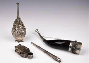 A GROUP OF FOUR JUDAICA OBJECTS