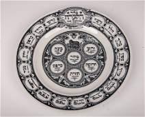 A PORCELAIN MATZAH PLATE BY BARDINGER