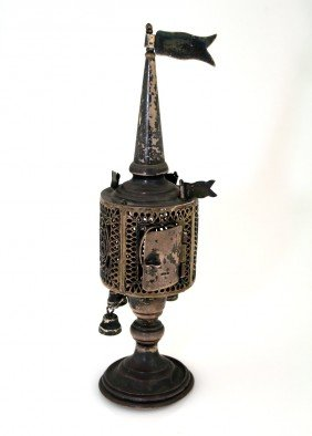 A SILVER SPICE TOWER. United States, C. 1900.