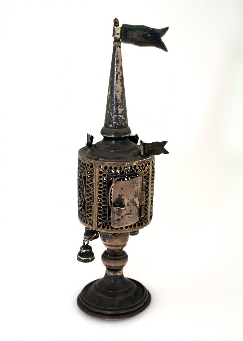 38: A SILVER SPICE TOWER. United States, c. 1900.