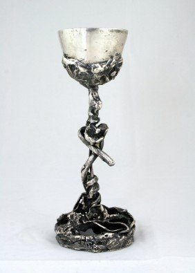 A KIDDUSH CUP BY HANNA GEBER. New York, C. 1960.