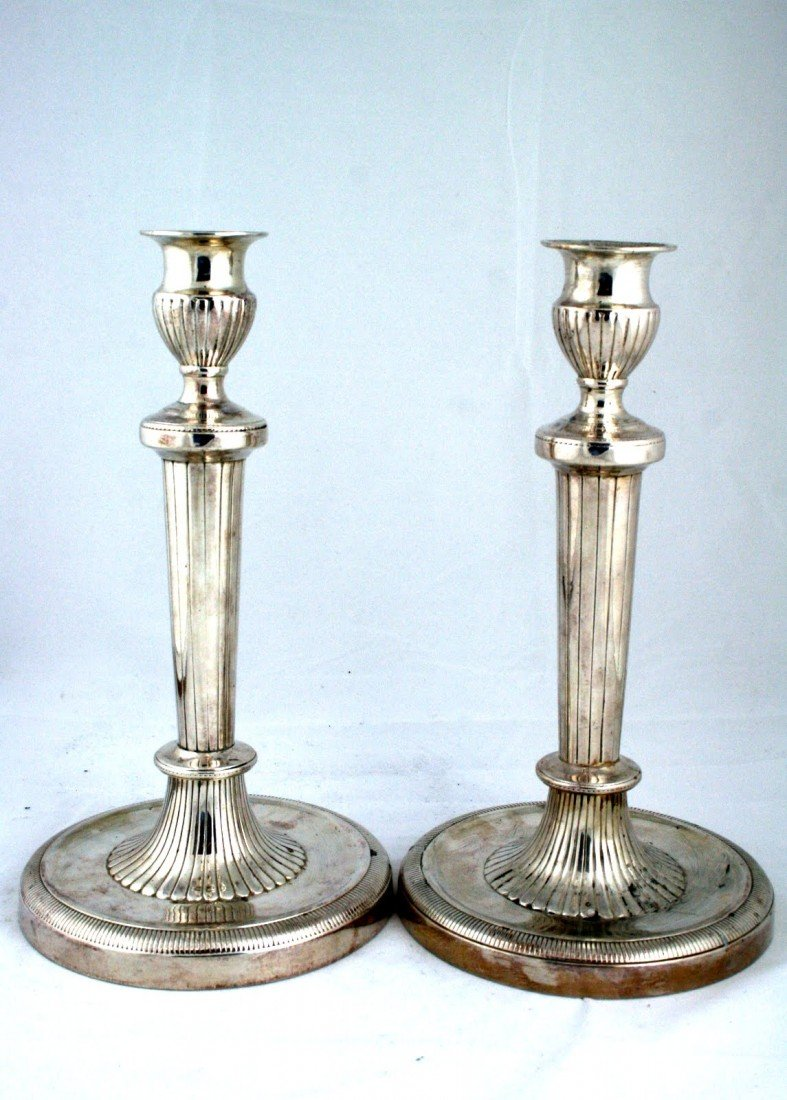 67: A PAIR OF SABBATH CANDLESTICKS. Continental, c.1880