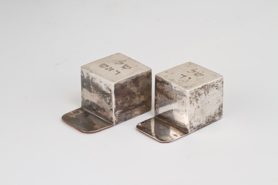 3: A PAIR OF SILVER TEFILLIN COVERS. Probably Dutch, c.