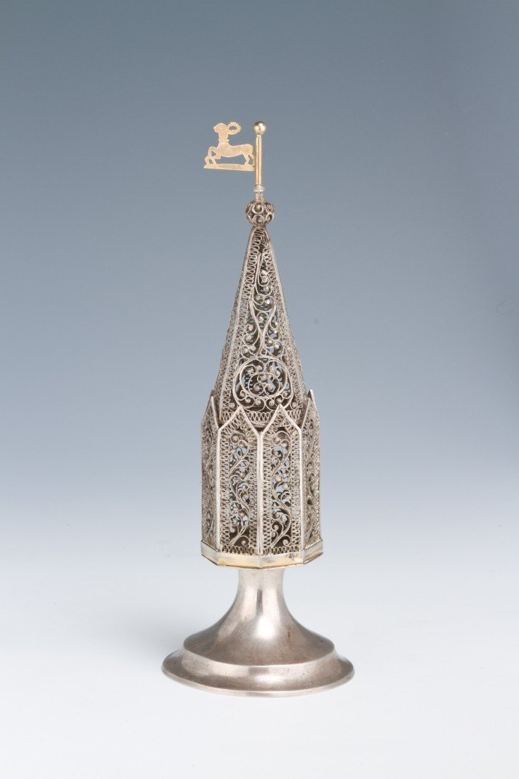 12: A LARGE SILVER SPICE CONTAINER. Poland, 1834.
