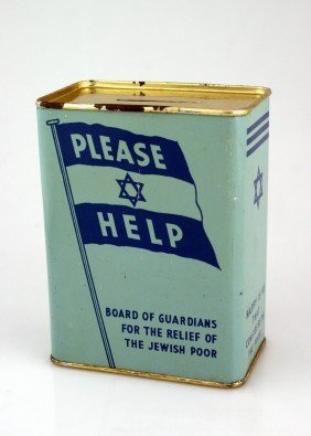 A TIN CHARITY CONTAINER. Liverpool, C. 1930. Collec