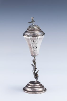 A SILVER SPICE CONTAINER. Poland, C. 1830.