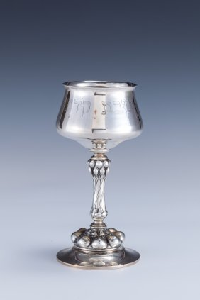 A LARGE SILVER KIDDUSH CUP. Germany, C.1900.