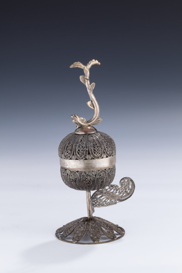 6: A SILVER SPICE TOWER. Poland, Early 19th century.