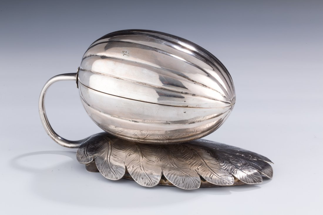 58: A Silver Etrog Container. Russia, 19th century.