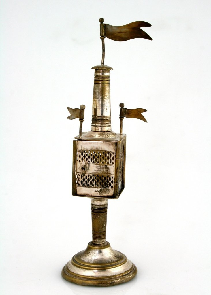 8: A SILVER PLATED SPICE TOWER. Germany, c. 1900.