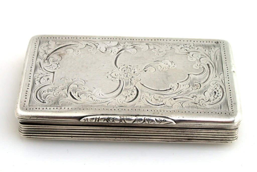 11: A SILVER TOBACCO BOX. France, c. 1900.