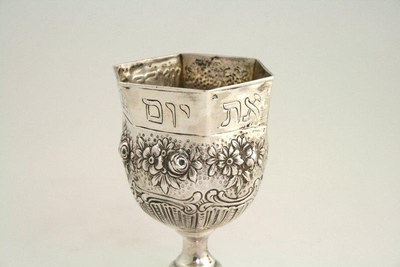 16: A SILVER KIDDUSH CUP. Germany, c.1900. - 4
