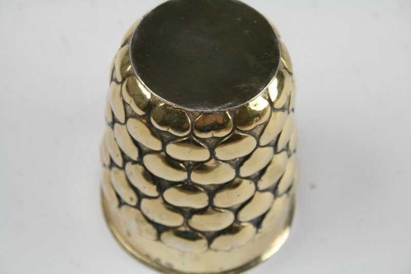 22: A RARE LARGE SILVER GILT KIDDUSH CUP. Germany, Mid - 3