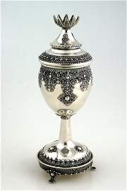 44: AN EXCEPTIONAL HAND MADE GOBLET BY SHEVAH BROTHERS.