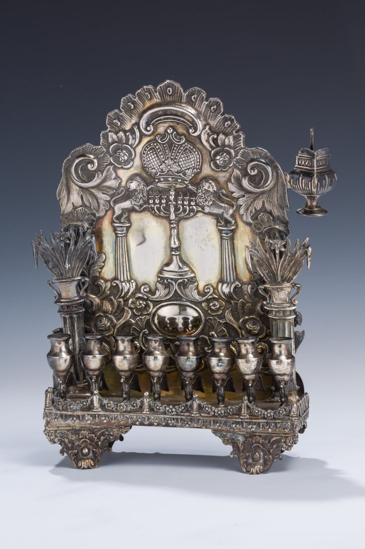 2: A RARE AND IMPORTANT CHANUKAH LAMP BY JAN PORGOZELSK