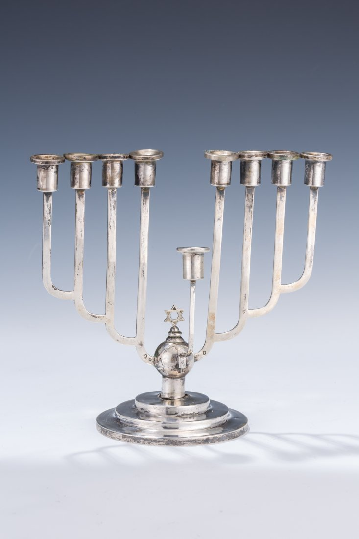 17: A SILVER CHANUKAH MENORAH