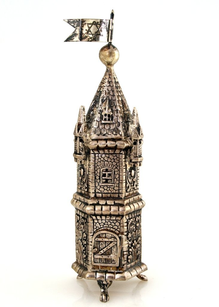 3: A STERLING SILVER SPICE TOWER. Probably Germany, Pos