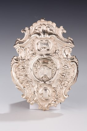A RARE AND IMPORTANT SILVER TORAH SHIELD. Augsburg, 175