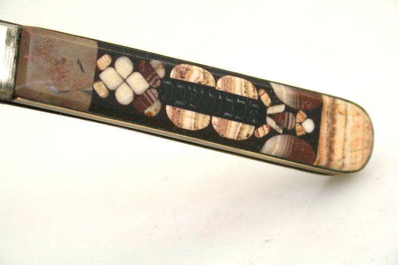 AN EARLY INLAID CHALLAH KNIFE. Karlsbad, c. 1890. Inlai - 2