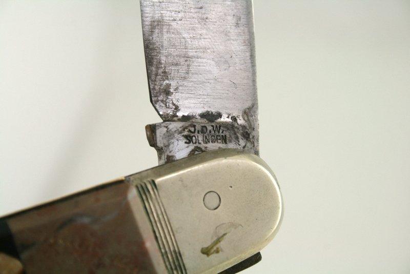 AN EARLY INLAID CHALLAH KNIFE. Karlsbad, c. 1890. Inlai - 4