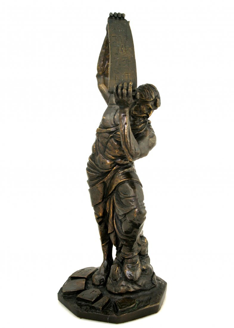 A LARGE BRONZE SCULPTURE OF MOSES BY YIANNIS KOUTSIS. S