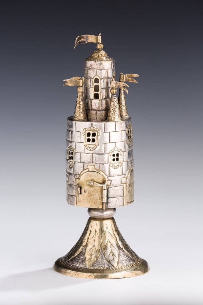 Important Silver Parcel-Gilt Spice Tower