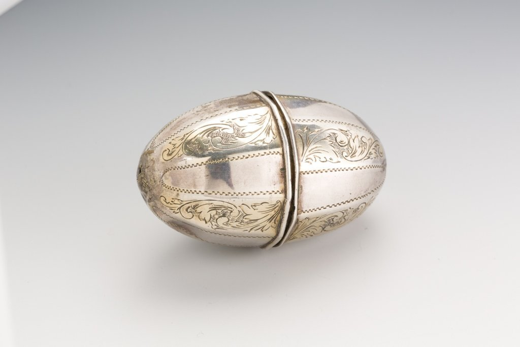 Silver Parcel-Gilt Traveling Spice Container