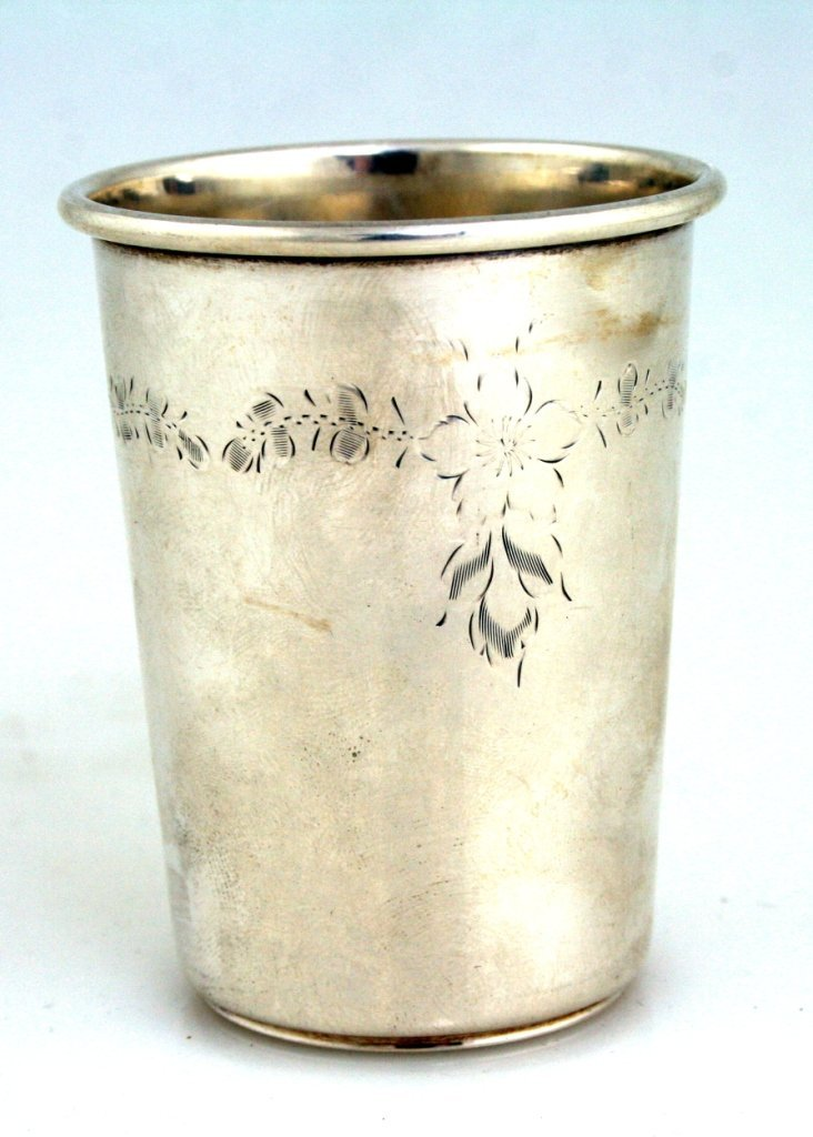 A LARGE STERLING SILVER KIDDUSH CUP. United States, c.