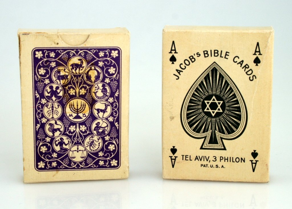 TWO COMPLETE SETS OF JACOB'S BIBLE CARDS. Tel-Aviv, 194