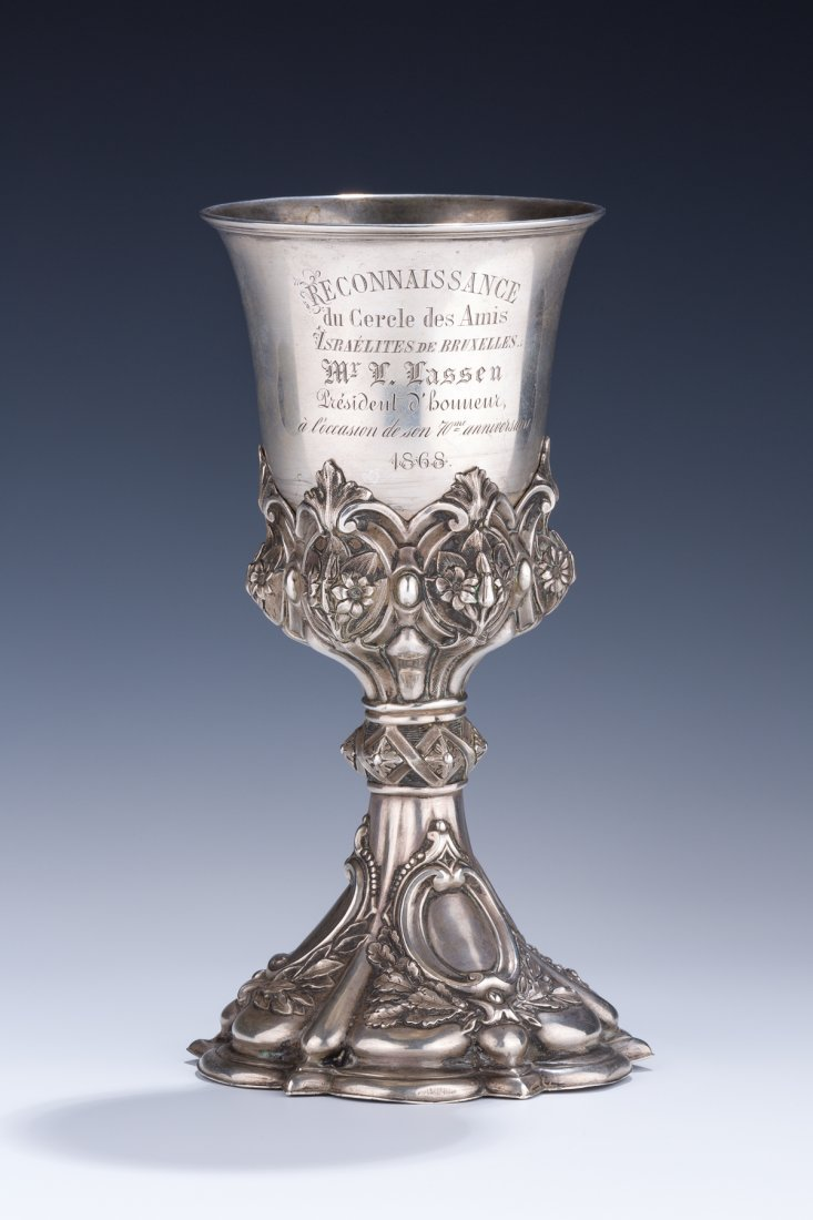 A VERY IMPORTANT EARLY BELGIAN SILVER GOBLET. Brussels,