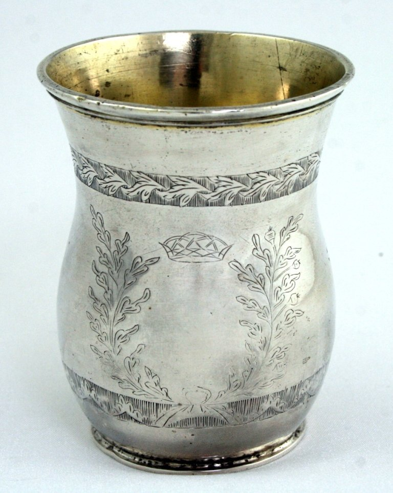 A SILVER KIDDUSH BEAKER. Poland, Early 19th century.
