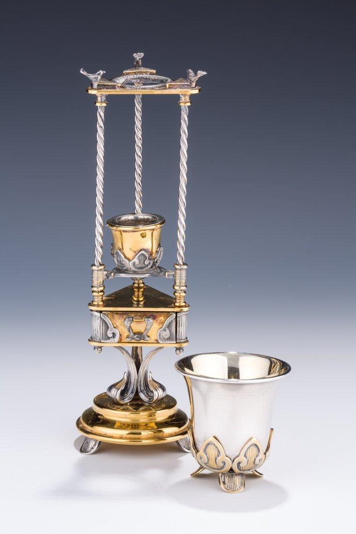 A HAVDALAH COMPENDIUM AND CUP BY DUDEK SWED. Israel,