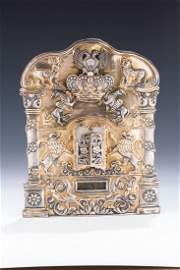 A RARE AND IMPORTANT TORAH SHIELD BY SHMUEL SKARLAT.
