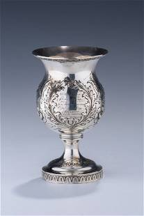 AN IMPORTANT AMERICAN STERLING GOBLET BY REED AND