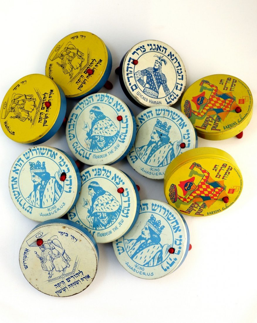 A COLLECTION OF 11 PURIM GRAGGERS. American, 1940 Ð 60.