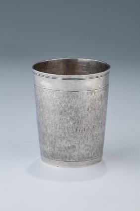 A Silver Kiddush Beaker By Johann Friedrich Ehe.