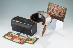A Monarch Stereoscope With Holyland Cards. C. 1900.