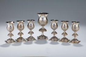 A Large Silver Kiddush Set. Poland, 1854.