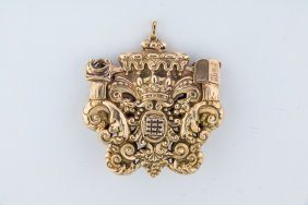 A Rare And Important Gold Amulet. Italian, 19th