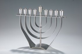 A Large And Important Chanukah Menorah By David Gumbel.