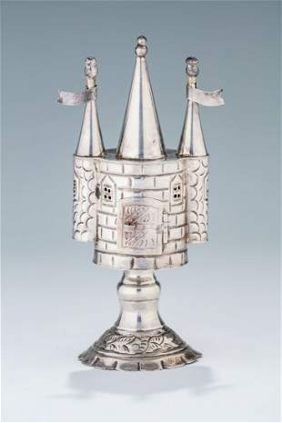 A STERLING SILVER SPICE TOWER
