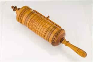 A LARGE MEGILLAT ESTHER IN ORIGINAL OLIVEWOOD CASE.