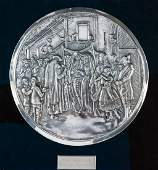 A LARGE SILVER WALL PLAQUE BY HENRYK WINOGRAD. New