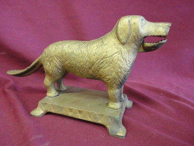 "1004: Nut Cracker, Dog Form, 5 1/4""H x 10 1/2""W x 4""D"