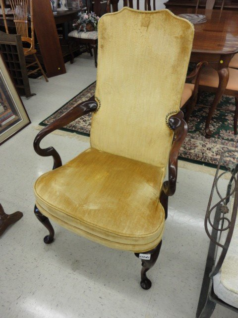 """1010: Chair, Parson Type, Hickory Chair Co., 43""""H x 26"""""""
