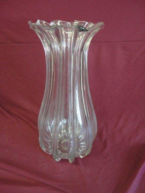"""1018: Vase, Crystal, Unmarked, 19 3/4""""H x 10""""D"""