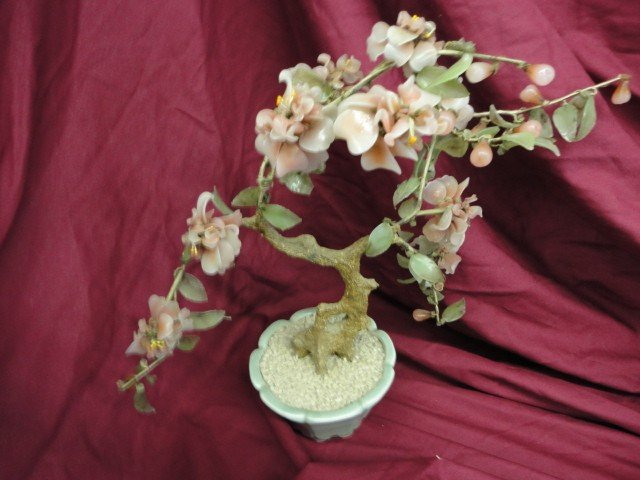 1051: Oriental Cherry Blossom, Mixed Composition, 16 1/