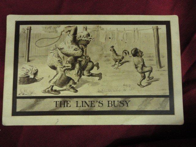 """1060: Post Card, African American Memorabilia, """"The Lin"""