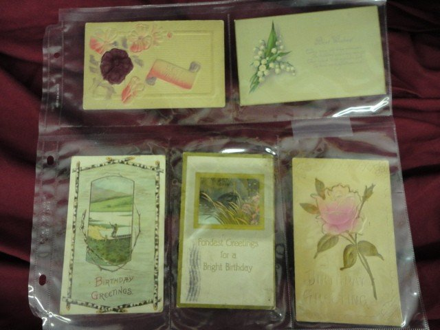 1061: Post Cards, 14pcs, Victorian, Including: Birthday