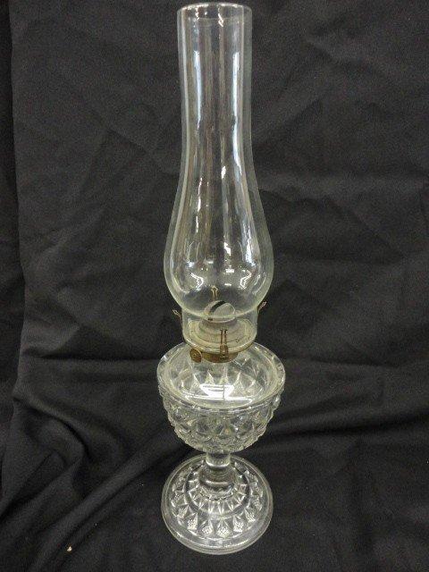 """1067: Lamp, Kerosene, Glass, 18""""H"""